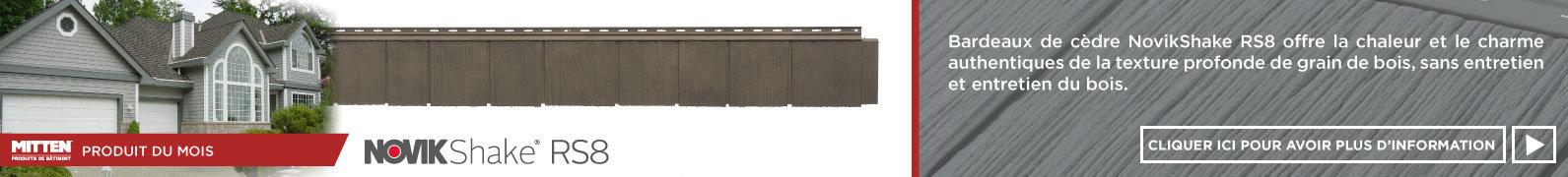 NovikShake RS8 / Bardeau de cèdre de couleur assortie Mitten 8'