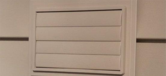 Grilles de ventilation <BR> utilitaires de Ply Gem