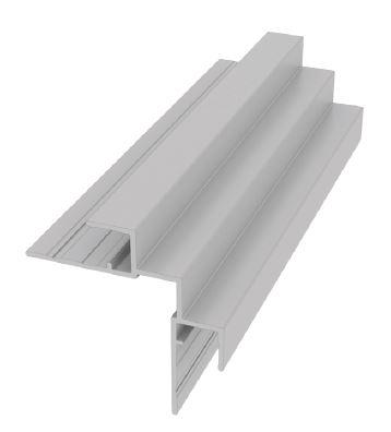 Moulure carrée de panneau en 1 pièce pour coin intérieur
