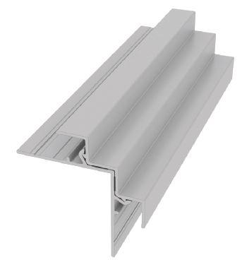 Moulure carrée de panneau en 2 pièces pour coin extérieur