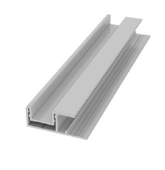 Moulure de panneau en F verticale en 2 pièces pour finition